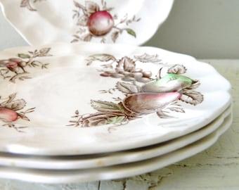 Vintage Harvest Time Bread Plates by Johnson Bros Farmhouse Kitchen Decor