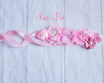 Pink Maternity Sash, Maternity Belt, Bridal Belt, Sash, Bridesmaid Sashes, Maternity Sash, Pink Flower Girl Sashes