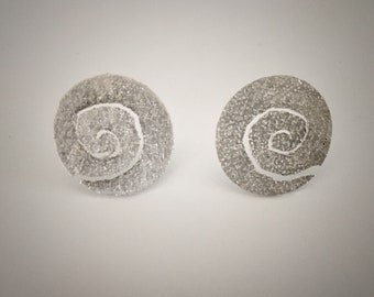 Sterling Silver Spiral Stud Earring