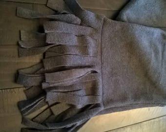 Fleece Scarf Charcoal Grey