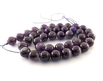 Beads Round Amethyst Strand 10mm