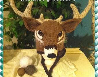 Whitetail Deer Crochet Hat Pattern