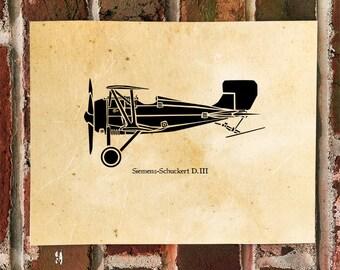 KillerBeeMoto: Limited Print Siemens-Schuckert D.III Bi-Plane Aircraft 1 of 100