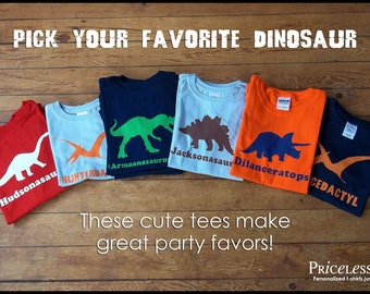 Personalized dinosaur birthday shirt, kids dinosaur shirts, birthday shirt boy, boy dinosaur shirts, gift for kids, Dinosaur Tees