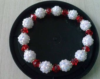 Bracelet simple shamballa and his red top