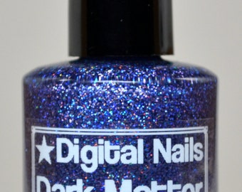 Dark Matter: an insane sparklefest of holographic glitter nail lacquer by Digital Nails