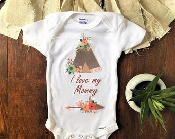 On Sale Mothers Day Onesie, Bohemian baby clothes, bohemian baby, bohemian baby girl, bohemian baby shower gift, floral baby clothes, baby s
