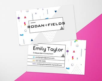 Rodan and fields business cards etsy rodan and fields business cards rodan fields cards rf consultant flashek Images