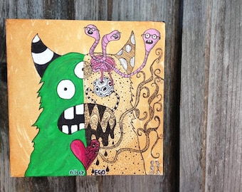 Alter-Ego Monster Painting 8x8