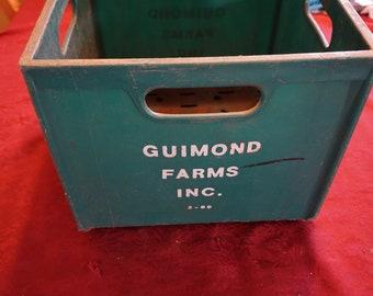 Vintage Guimond Farms Inc Milk Crate 1960-1970's