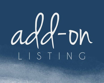 Add On Listing - Add-on - Add ons - Additional Costs