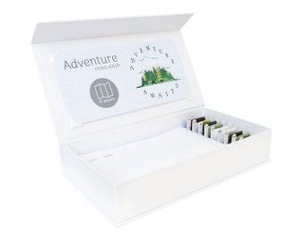 Abenteuer Cross Stitch Kit - Stitchering Box - organisiert Materialien von höchster Qualität - perfekt für Anfänger und erfahrene Craftiers