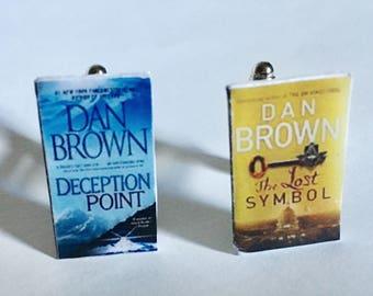 Cufflinks, book cufflinks, thrillers