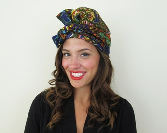 60s Amy New York Green Paisley Cloche Hat