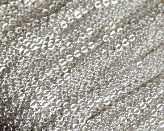 100 ft Spool of Silver Plated very Flat Soldered Cable Chain 1.2mm