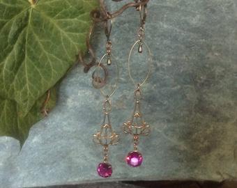 Beautiful noiseuse earrings Bohemian vintage retro