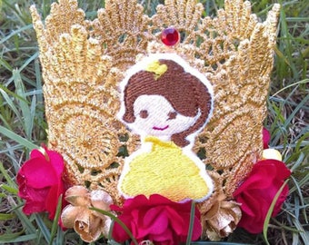 Beauty Birthday Crown, Bell, Gold Crown, Birthday Crown, Princess Crown