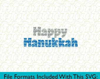 Happy Hanukkah Svg, Png, Dxf, Eps, Pdf, Jpeg files for Silhouette Cameo or Cricut Holiday SVG Jewish SVG