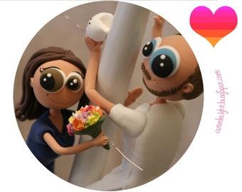 Wedding cake topper, DOCTOR Cake Topper, Doctors wedding cake topper, Doctor Groom, doctor bride, Doctor Bride,Dentist cake topper