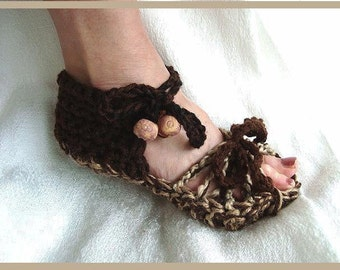 Crochet Pattern, sandals, num. 450-D, age 12 to adult large, permission to sell your finished items, instant digital download