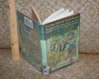 """Vintage 1990 """"Further Tales of Uncle Remus"""" w/ Brer Rabbit, Fox, Wolf, Doodang + More by Julius Lester!  Illustrated by Jerry Pinkney!"""