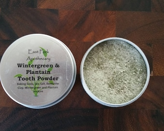 Wintergreen and Plantain Tooth Powder 1 oz. Wildcrafted