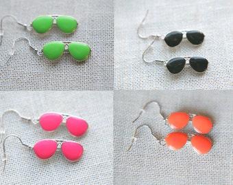 Neon Sunglasses Earrings