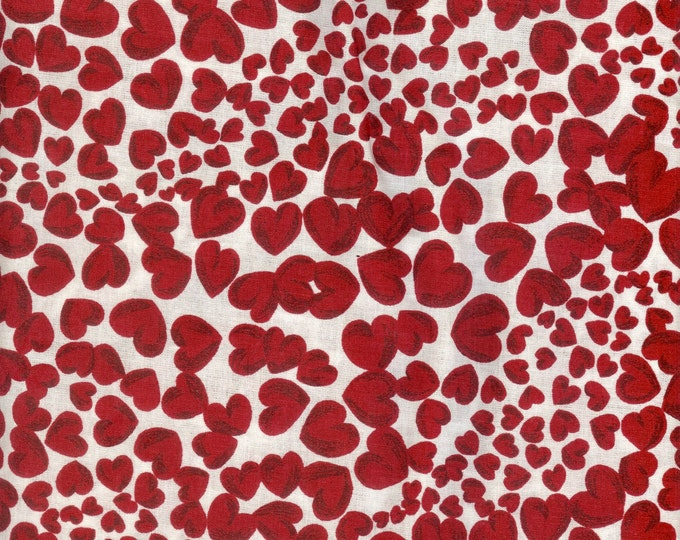 Hearts all Over, cotton fabric. Sold by ( multiple lengths)  #109