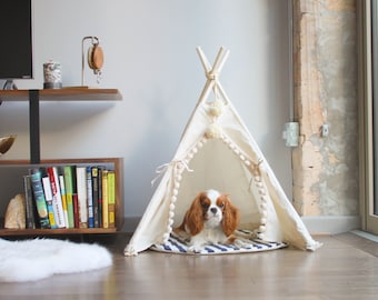 Pet teepee, modern dog bed, small dog bed, pet tipi, pet bed, dog beds, cat beds, cat teepee, designer dog bed, handmade dog bed, medium dog