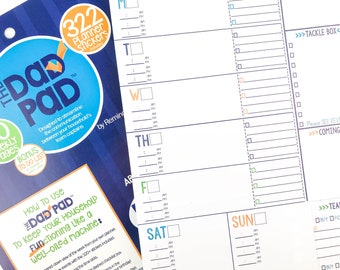 BLOW OUT SALE! The Dad Pad® 60 page weekly planner pad w/ 322 man stickers, lists, tear sheet by the makers of Reminder Binder®