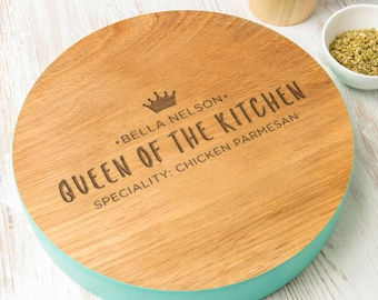 Personalized Gifts for Women - Christmas Gift for Women - 'Queen Of The Kitchen' Serving Board / Kitchen Decor