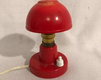 Lamp fungus years 70 Bakelite & Vintage red plastic