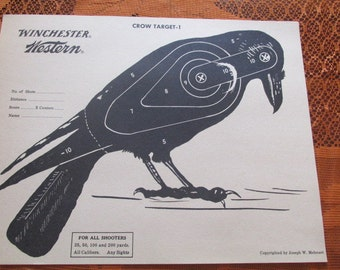 Winchester Western Hunting Paper Crow Target