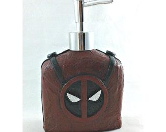 Deadpool Soap Dispenser, mixed media soap pump