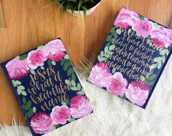 Hand Painted Bible: bloom theme
