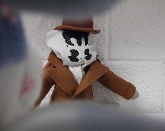 Rorschach Sock Monkey with BurglarMonkey Playset (Watchmen Comic Geek Doll Plush Alan Moore)