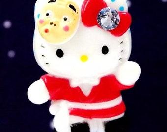Hello Kitty x Morioka Mask Festival Swarovski elements crystal Japan necklace