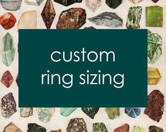 Custom Ring Sizing