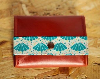 Tristan camel leather wallets and fabric shell