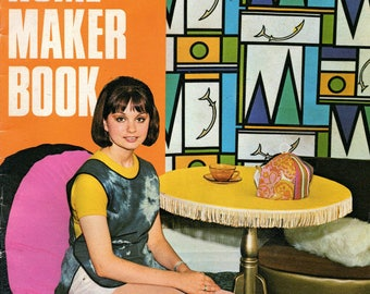 Mid Century HOME MAKER BOOK by Enid Gilchrist Curtains Blinds Cushions Chair Covers Sewing Pattern Drafting Book