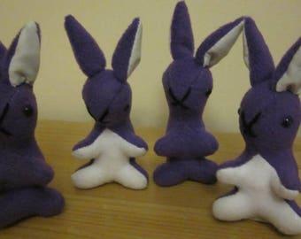 Purple Baby Rabbit Nursery Decor Toy Purple Fleece Bunny Unbreakable Toy Bedroom Decor Item Purple Fleece Toy Stocking Stuffer Fun Toy Gift