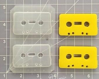 ON SALE Retro cassette flexible plastic resin mold (2 cavity)