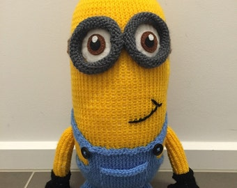 Kevin the Minion Knitting Pattern PDF