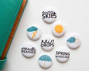 weather No. 1 - Spring Edition - Mini Flair Set