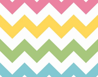 STORE CLOSING SALE - Large Chevron, Girl, Riley Blake Designs, 100% Cotton Quilt Fabric, Quilting Fabric