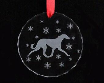 Saluki Ornament - Saluki Christmas Ornament - Glass