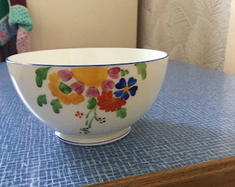 Lovely vintage hand painted sugar bowl
