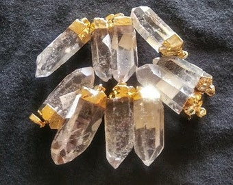 the Lot, Brazilian made Quartz pendants