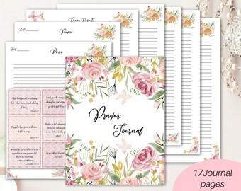 Prayer Journal/ printable Bible journaling kit/ devotional journal/ prayer planner/ Bible verse journal/ Bible journal/ prayer journal pages