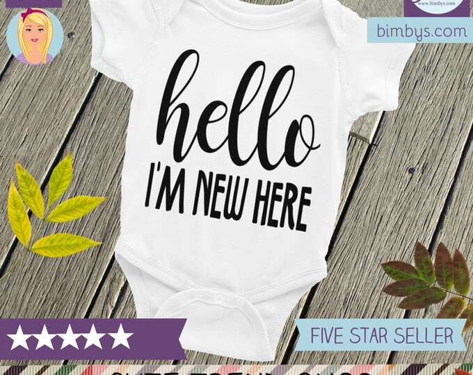 Hello World Baby onesie, Take Home Outfit, Newborn Prop, hello world Bodysuit, newborn bodysuit, hello onesie, cute bodysuits, hello baby